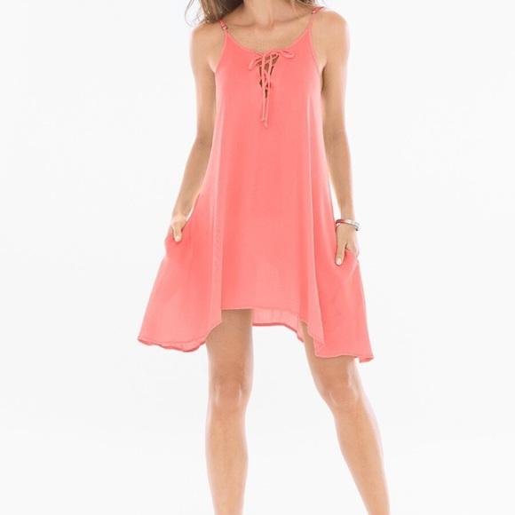 Elan Dresses & Skirts - Elan Lace Up Neck Dress